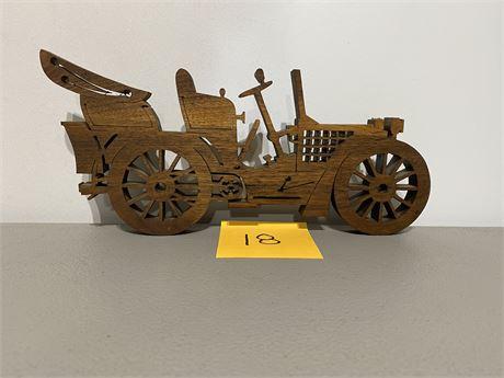 Vintage Handmade Old Time Car Scroll Saw Art #1