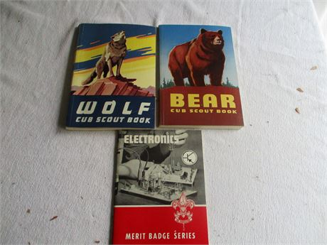 3 Vintage Cub Boy Scouts of America 1950's Manuals