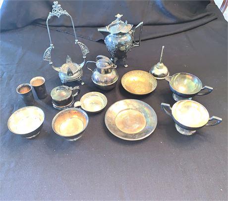 Vintage/Antique Silver-plated Serving Pieces