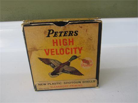 Vintage Peters 12 GA Shotgun Shell Box + Shells