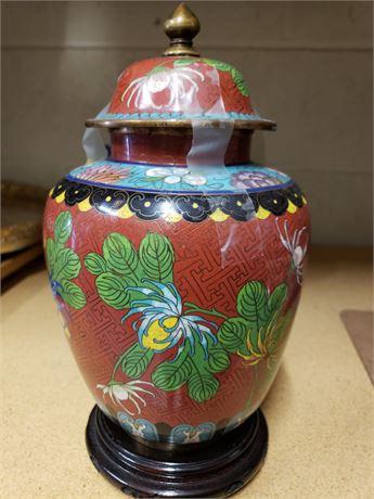 Vintage Cloisonne Ginger Jar