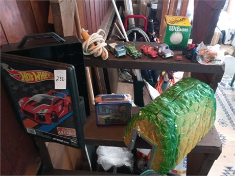 Hot wheels case and assorted toys