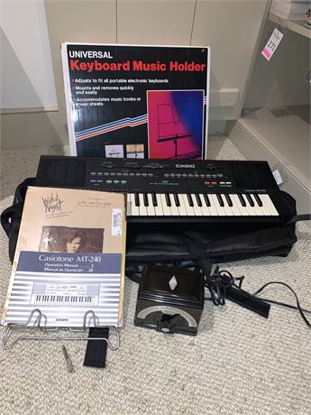 Casio Casiotone MT-240 Keyboard and More