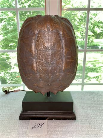 Faux Tortoise Shell Lamp Signed by Tomlin
