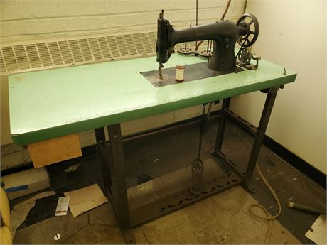 Antique Industrial Sewing Machine on Great Base