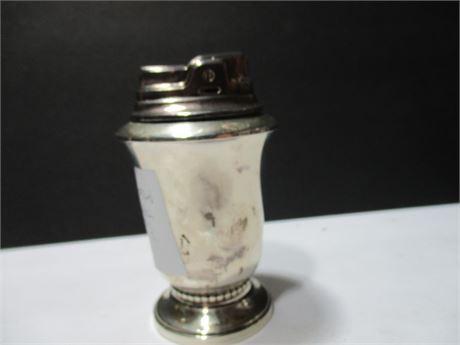 Vintage MCM Sterling Silver Cigarette Lighter Base & Lighte