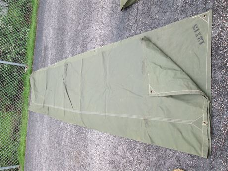 "Heavy Professional Military Quality 12' X 15"" Green Tarpaulin"