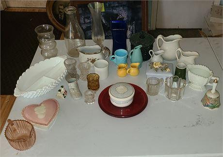 Various Glass Pieces