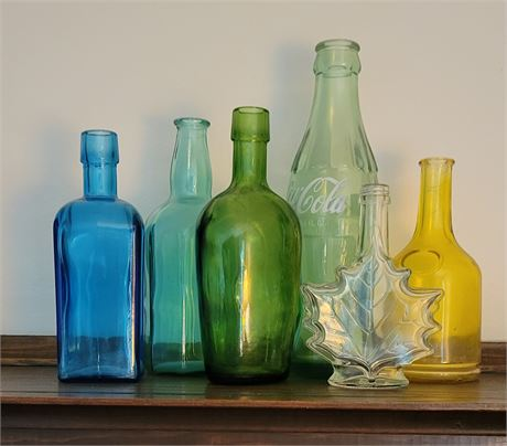 Small Mixed Color Bottle Lot