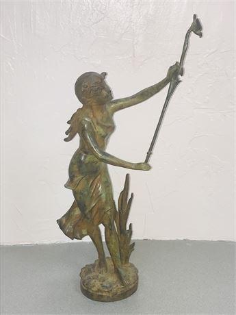 Bronze Art Nouveau Statue