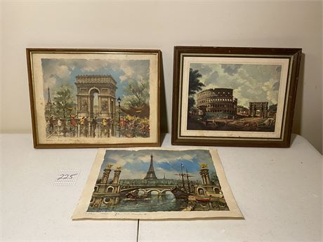 European Monuments Prints