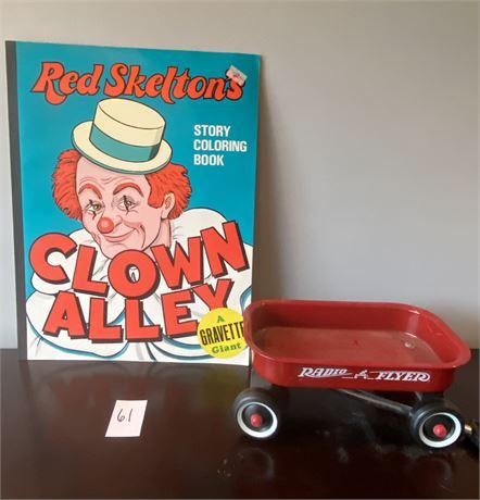 Mini Radio Flyer Wagon & Giant Clown Alley Coloring Book