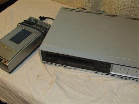Vintage Kinyo Super Slim VHS Rewinder and VHS Player
