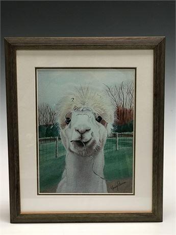 Digital Oil Print of Lama by Nancy Evans