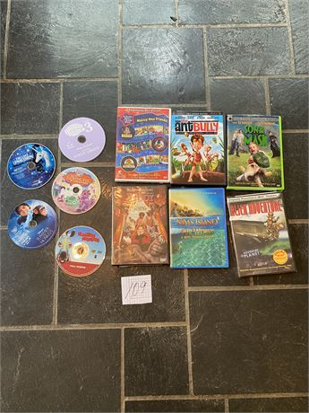 Children's Movies DVD Lot