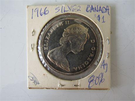 1966 Silver Canada Dollar