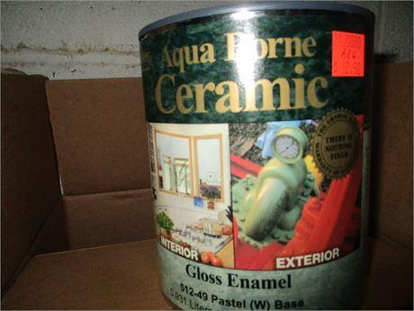 4 Qts Graham Aqua Borne Ceramic Pastel Gloss Enamel Base