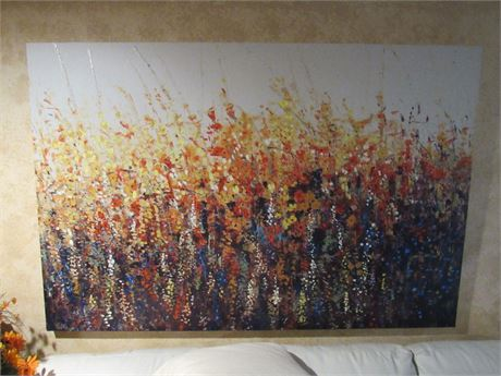 Large Abstract Canvas Painting