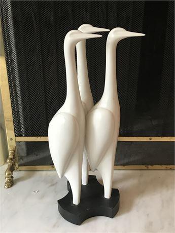 Ceramic Crane Sculpture