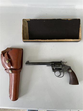 Colt 22 Revolver Police Positive Target w/ Original Box & Holster