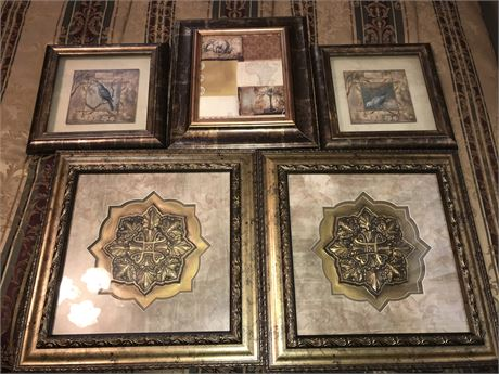 Wall Decor Lot - 5 pieces