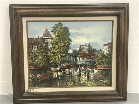 Framed Oliveri Framed Original Oil on Canvas Painting