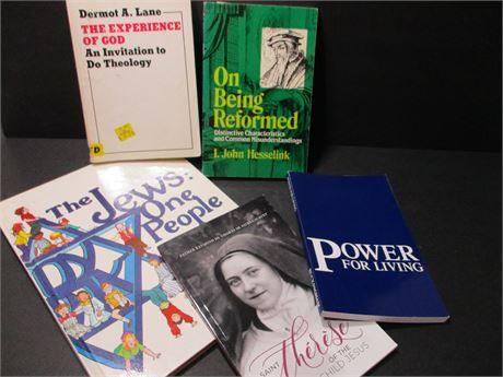 Vintage 6 Piece Religious Oriented & theme Books lot
