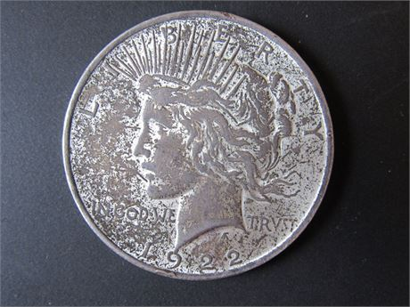 1922 Silver Peace Dollar Dollar Liberty Head