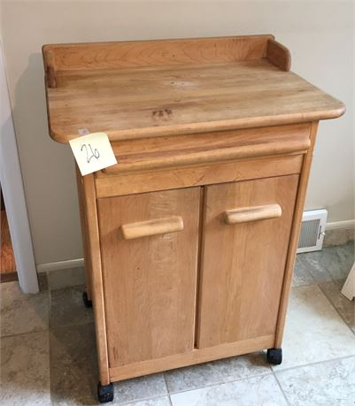 Wooden Microwave Cart