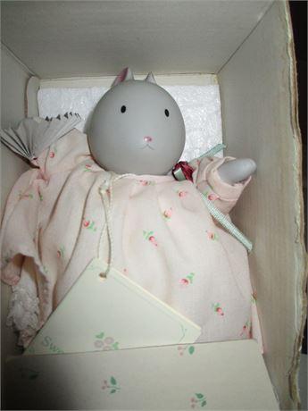1980's Chicken Little Sweetest Flower Hand painted Ceramic Doll Girl 1939