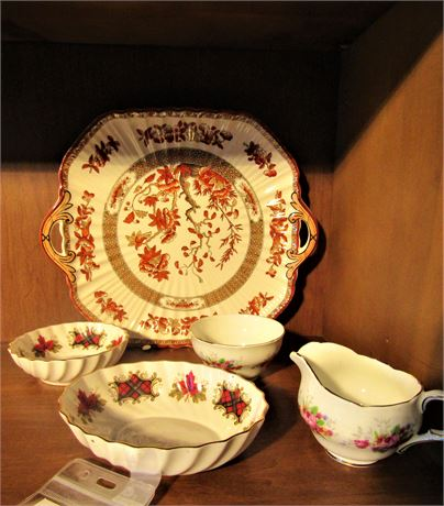 Spode Plate in India Tree Pattern and More China Pieces