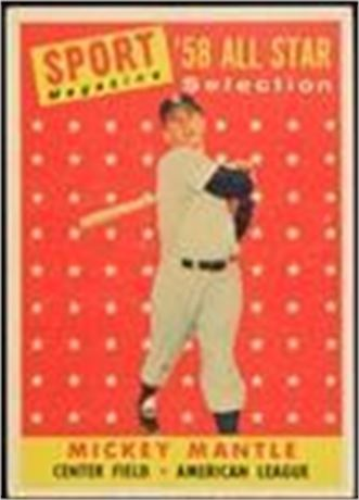1958 Topps #487 Mickey Mantle All-Star