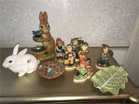 Figurine Lot including Goebel, Napco, Hummel, and Vaillancourt
