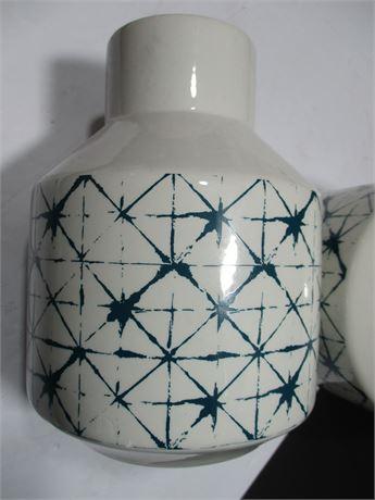 "8"" Vintage Matched Pair Ceramic Water & Wine Carafes"