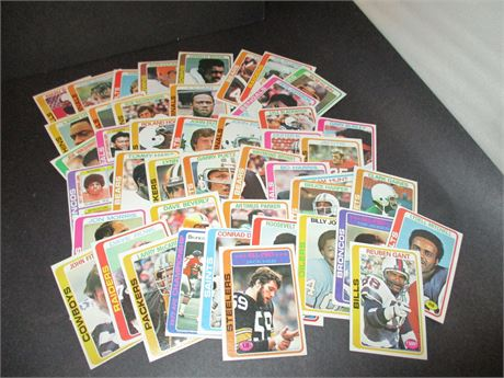 Vintage Large Loose Lot 1978 Topps NFL Player Player Collector Cards