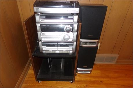 Aiwa stereo, Cd Player, Record player, cassette player