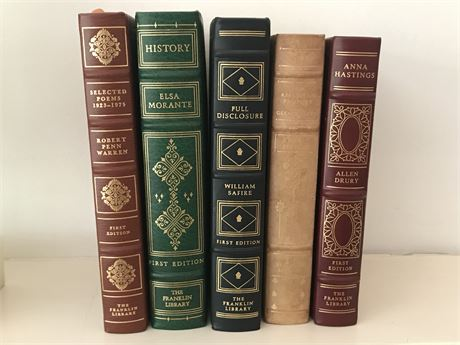 Five Beautifully Bound Franklin Library Reproduction Books