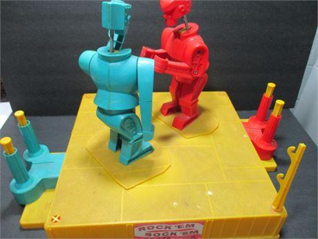 Vintage Marx Toys 1966 Rockem Sockem Robots Boxing Toy