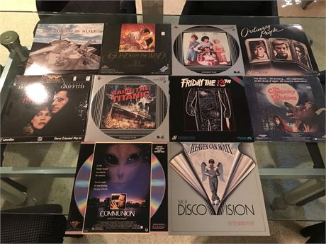 Laser Disc Lot 3 - including Gone with the Wind and Friday the 13th