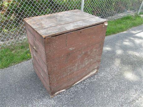 Antique Primitive Wood Shipping Feed Bin Box