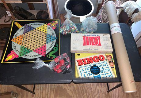 Vintage Whitman Bingo Game, Hi-Q Game, Chinese Checkers and More