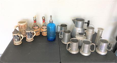Vintage Ceramic German Beer Steins and More