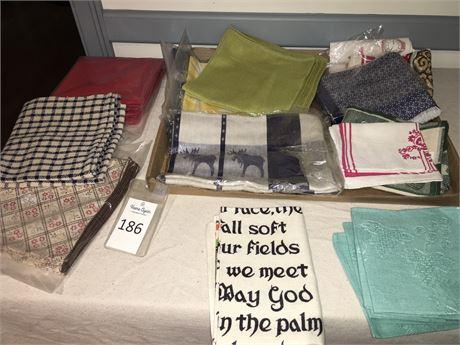 Variety of Linen & Polyester Napkins