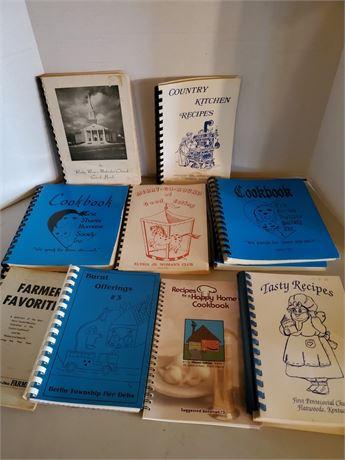 Vintage Spiral Bound Cook Book Lot