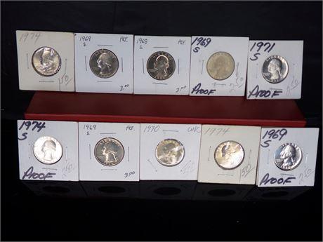 Lot of 10 Quarters