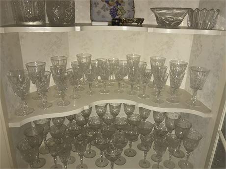 Waterford Crystal - Marquis? Heritage? 8 lg, 8 med, 11 sm
