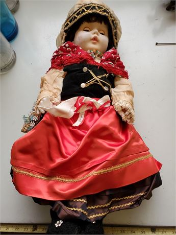 Vintage Doll in Great Costume