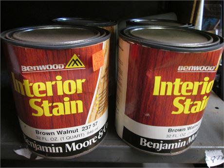 2 - Qts Benjamin Moore Penetrating Brown Walnut Interior  Stains