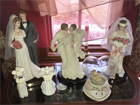 Wedding Figurines Lot (6) - one with damage as shown