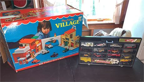 Fisher Price Play Family Village and Hot Wheels